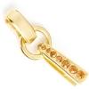 Swarovski R/s Bail 37mm Gold/ Crystal Copper